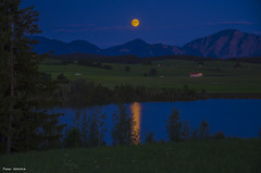 moon reflections in the water (peter-goettlich) Tags: moon fullmoon moonreflections reflections water lake mountains landscape nature outdoor night nightscape murnau staffelsee riegsee bayern esthergebirge