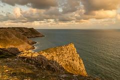 Golden Cliffs, Gower (Richard-Morgan 147) Tags: gower sunset wales nature