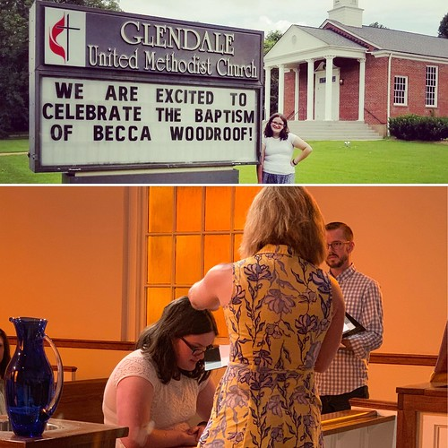 Becca Woodroof Baptized at Glendale UMC - Nashville July 7, 2019