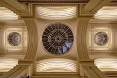 Gold on The Ceiling (Giovanni Giannandrea) Tags: gallery rice talbot museum architecture gold edinburgh ceiling cupola dome viewpoint edinburghfestival colourist columns arches marble triplecupola