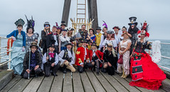 The Steampunk Gang (daveseargeant) Tags: leica x typ 113 whitby north yorkshire steampunk weekend event festival seaside coastal street pier group candid colour