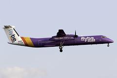 flybe Dash 8 Q400 G-FLBE at London Heathrow LHR/EGLL (dan89876) Tags: flybe de havilland canada dash 8 q400 dh8d gflbe london heathrow international airport landing runway 27l lhr egll