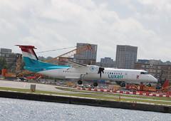 LX-LQB Bombardier Dash 8402 Luxair (lee_klass) Tags: lxlqb dash8q400 dh8d bombardierdash8q400 dash8 dasheight dehavillandcanadadhc8402qdash8 q400 luxair lgl lg lg4593 lgl4593 lgl43l aviation aviationphotography aviationspotter aviationenthusiast aviationawards aeroplane propliner airliner prop turboprop twinturboprop regionalairliner canon canoneos750d canonaviation london londoncityairport eglc lcy cityairport docklands england unitedkingdom plane planespotting lux luxembourgfindelairport ellx luxembourg travel airtravel transport airtransport aircraft vehicle