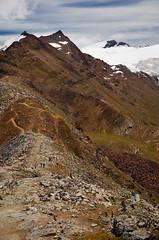 Gornergrat - Zermatt (Massimo Frasson) Tags: kodak kodakelitechromeextracolor svizzera suisse schweiz switzerland confederazionesvizzera confederazioneelvetica cantonvallese distrettodivisp zermatt ferroviadelgornergrat gornergratbahn gornergrat ghiacciaio montagna monti neve vette cielo roccia sentiero panorama landscape