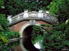 ... (Jean S..) Tags: bridge pond trees green monceau paris outdoors summer park garden