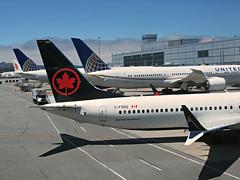 AC 737-8 MAX C-FSDQ (kenjet) Tags: ac aircanada boeing max 737 737max8 7378max flugzeug plane jet airline airliner sf sfo ksfo airport gate terminal aviation sanfranciscointernationalairport max8 737max winglet tip