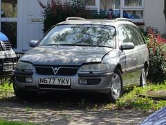 1995 Vauxhall Omega 3.0 Elite Auto (Neil's classics) Tags: 1995 vauxhall omega 30 elite auto touring station wagon estate abandoned car