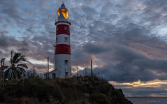 Albion Lighthous I (W.MAURER foto) Tags: mauritius lighthouse leuchtturm albion albionlighthouse clouds nikond800 evening indianocean island insel travel travelphotography reise clowds abend