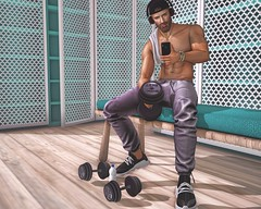 Let's workout (martincl resident) Tags: legal insanity equal wrong magnificent backdropcity secondlife second life martincl martin clovis blogger work out gym