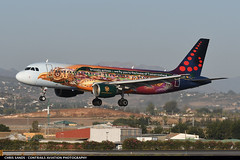 Brussels Airlines A320 OOSNF (Sandsman83) Tags: airplane aircraft plane brussels airlines airbus a320 specialscheme speciallivery tomorrowland oosnf landing malaga lemg agp