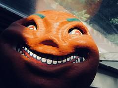 2019 Pumpkin Grin Papier Mache Jack O Lantern 8356 (Brechtbug) Tags: 2019 pumpkin grin paper mache jack o lantern pumpkins halloween candy bucket orange plastic holiday face smiling smile jackolantern spooky creepy 1920s 20s 20 1930s 30s 30 german retro vintage sculpture toy toys decoration bandit thug crime criminal mask nyc decor new york city papier