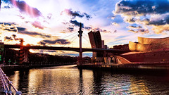 Puente de La Salve - Bilbao (Miradortigre) Tags: españa spain espagne bilbao bilbo puente bridge museo guggenheim sunset atardecer pordosol pordesol