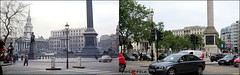 Trafalgar Square`1960-2019 (roll the dice) Tags: old london westminster sw1 wc2 uk england people urban art history classic fashion architecture crossing sad traffic surreal retro collection nostalgia local streetfurniture mad changes comparison sixties listed grade1 bygone lights lions westend oldandnew pastandpresent hereandnow demolished vanished mandela strand ornate battle lamp whitevan bus transport bollards charingcross trees