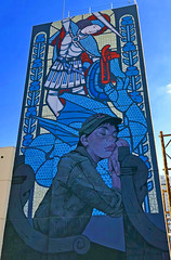 The Sleeping Knight by Bezt Etam (wiredforlego) Tags: graffiti streetart urbanart aerosolart publicart lasvegas las vegas nevada mural beztetam lifeisbeautiful