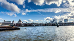 London Skyline (Derwisz) Tags: london skyline city thecity uk unitedkingdom england bridge milleniumbridge river thames stpaulscathedral thescalpel thewalkietalkie thecheesegrater skyscraper highrise buildings cityscape canoneos40d