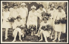 1928 Calder Photo Postcard - May Queen and her Maids of Honour at the Annual May Day Celebration at White Rock, B.C. May 24th 1928 (Treasures from the Past) Tags: whiterock bc britishcolumbia postcard realphoto waltercalder walterhughescalder calderphoto mayday whiterockbc mayqueen 1928 vintage