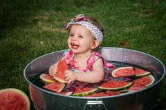 True Joy (Thomas DeHoff) Tags: watermelon granddaughter sony a77 mk2 tamron 1750