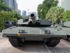 P8030035 (gprana) Tags: cbd em5 leopard2sg micro43 microfourthirds military ndprehearsal nicollhighway olympus olympusomdem5 singapore tank vehicle m43