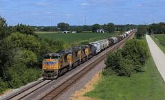 Decent Leader, for UP (GLC 392) Tags: emd sd70ace galt il illinois harvey road farm field tree trees 8458 2550 5255 8650 ge gevo et44ah es44ach ac45accte up union pacific railroad railway train
