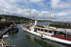 Long Boat, Small Boat, Astoria, Oregon (Gary L. Quay) Tags: astoia oregon oregoncoast boat coast harbor pacificnorthwest westernusa ship garyquay water summer sailing columbia river colimbiariver