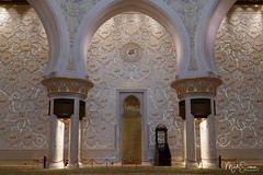 Mihrab (The Niche) (marko.erman) Tags: abudhabi sheikhzayed grandmosque unitedarabemirates uae sony mosque islamicart islam prayer religion architecture mihrab theniche gold qiblawall