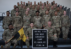 5th Regiment, Advanced Camp Cadets take Platoon Photos at Fort Knox, Ky., July 17. (jordynm_2) Tags: 5thregiment advancedcamp army armyrotc cst2019 cadets fortknox jordynmcculley kentucky platoonphotos