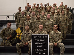 5th Regiment , Advanced Camp Cadets take Platoon Photos at Fort Knox, Ky., July 17. (jordynm_2) Tags: 5thregiment advancedcamp army armyrotc cadetsummertraining cadets fortknox hooah jordynmcculley platoonphotos