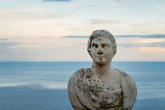 Beautiful statue from the belvedere, the so-called Terrazza dell'infinito, The Terrace of Infinity seen on the sunset, Villa Cimbrone, Ravello village, Amalfi coast of Italy (OLF Picture) Tags: villacimbrone belvedere sculpture statue statues terrazzadellinfinito terraceofinfinity seasunsetpanorama italy amalficoastitaly tyrrheniansea sunset ravellovillage town young lifestyle female rocks natural woman summer tourism vacation holiday beautiful coast ocean beach water nature sea religion sky stone angel ancient monument travel architecture china old lion culture religious white god faith marble blue symbol