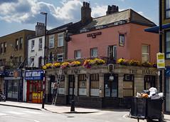The Hare, Cambridge Heath (London Less Travelled) Tags: uk unitedkingdom britain england london eastlondon bethnalgreen towerhamlets city urban street pub hackney thehare people rubbish garbage flowers