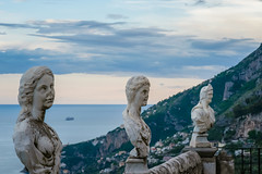 Statues from the belvedere, the so-called Terrazza dell'infinito, The Terrace of Infinity seen on the sunset, Villa Cimbrone, Ravello village, Amalfi coast of Italy (OLF Picture) Tags: italy statue statues belvedere villacimbrone terrazzadellinfinito terraceofinfinity seasunsetpanorama ocean china travel sunset sea summer vacation sky sculpture woman holiday art tourism beach monument nature beautiful stone architecture female angel coast town ancient rocks asia natural religion lion young culture lifestyle tyrrheniansea amalficoastitaly ravellovillage blue white religious symbol god faith marble