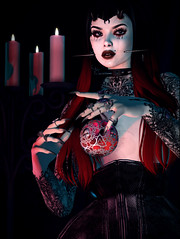 The Summoning (Diavkha) Tags: goth gothic dark darkness horror haunting witch wicca spooky vampire shadows magic portrait femboy boy androgynous secondlife second life photography avatar