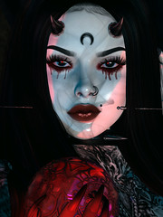 A Gift (Diavkha) Tags: goth gothic horror spooky haunting vampire dark darkness shadows witch wicca magic portrait femboy boy androgynous secondlife second life avatar photography