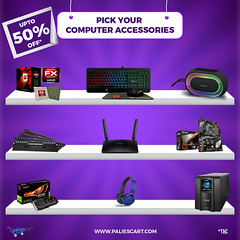 Up to 50% Offers On Computer Accessories (paliescart) Tags: paliescart onlineshopping computeraccessories ram keyboard mouse printers cabinets motherboard routers