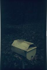 Odd composition (Matthew Paul Argall) Tags: kodakbabyhawkeye 127 127film boxcamera rerachrome100 100isofilm letterbox mailbox slidefilm