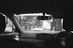 Through the windscreen (Matthew Paul Argall) Tags: hanimex35es fixedfocus 35mmfilm kentmerepan100 100isofilm blackandwhite blackandwhitefilm windscreen windshield