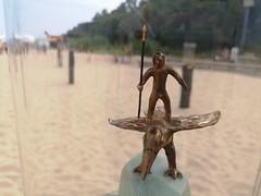 Miniature sculpture by Roberts Diners at Dzintari beach in Jurmala, Latvia. August 18, 2019 (Aris Jansons) Tags: sculpture beach art summer outdoors jurmala dzintari city latvia baltic europe 2019 sand
