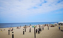 Beach at Dzintari, Jurmala, in Latvia. August 18, 2019 (Aris Jansons) Tags: beach sand people sea balticsea rigagulf sky jurmala dzintari europe baltic latvia