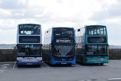 FK 33084, 33301 and 33172 @ Penzance bus station (ianjpoole) Tags: first kernow transbus trident plaxton president ln51gme 33084 alexander dennis enviro 400mmc wk18cfo 33301 hig1519 33172 penzance bus station