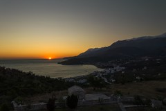 Sunset from Himare