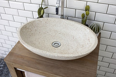 Luca Grande Red Terrazzo Washbasin