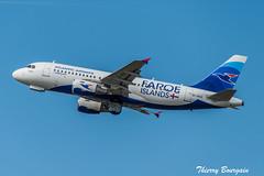 [CDG] Atlantic-Airways Airbus A319-100 _ OY-RCG (thibou1) Tags: thierrybourgain cdg lfpg spotting aircraft airplane nikon d810 tamron sigma atlanticairways airbus airbusa319 a319 a319100 faroeislands sas oyrcg takeoff