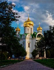 Екатерининский собор // Catherine's Cathedral (Alexx053) Tags: road sky cloud trees golden domes russia olympus orthodoxchurch microfourthirds em10iii