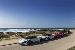 Exotic Lineup on 17 Mile Drive in Monterey, California (Desert-Motors Automotive Photography) Tags: mclaren exoticcars ferrari rollsroyce monterey california montereycalifornia 17miledrive