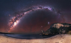 Milky Way at Windy Harbour, Western Australia (inefekt69) Tags: milky way windy harbour coast coastline beach ocean sea tracked ioptron skytracker cosmology southern hemisphere cosmos western australia dslr long exposure rural night photography nikon stars astronomy space galaxy astrophotography outdoor core great rift 50mm d5500 panorama stitched mosaic nature landscape msice sky hoyaredintensifier filter astrometrydotnet:id=nova3617236 astrometrydotnet:status=failed