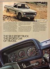 1980 Toyota SR-5 Sport Truck Pickup USA Original Magazine Advertisement (Darren Marlow) Tags: 1 5 8 9 19 80 1980 t toyota s r sr5 sport truck p pickup c car cool collectible collectors classic a automobile v vehicle j jap japan japanese asian asia 80s