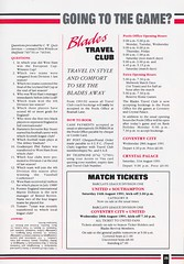Sheffield United vs West Ham United - 1991 - Page 25 (The Sky Strikers) Tags: sheffield united west ham barclays league division one bramall lane the blade official programme pound twenty