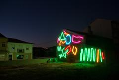 Interactive Neon Mural #1 (SPIDERTAG / Street Art Superhero) Tags: arteurbano arte urbanart streetart mural muralismo muralism vanguardia avantgardestreetart estau estarreja portugal mistakermaker spidertag neon