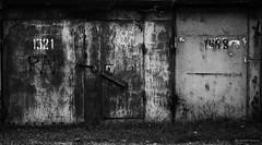 Higher mathematics! (Listenwave Photography) Tags: fv10 blackandwhite bnw art signart garage corrosion abandoned doors urban sigma merrill foveon listenwave photohopexpress