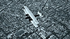 twin engine Keystone B-3 biplane over Los Angeles, CA 1928 NARA18-AA-17-45 (over 18 MILLION views Thanks) Tags: aircraft airplane airplanes usarmy inflight california armyaircorps bomber
