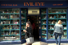 Evil Eye Cocktail bar in York (Tony Worrall) Tags: york street streetphotography urban candid people person capture outside outdoors caught photo shoot shot picture captured picturesinthestreet photosofthestreet yorkshire yorks scene scenery northyorkshire resort yorkshirephotos east eastern north update place location uk england visit area attraction open stream tour country item greatbritain britain english british gb buy stock sell sale ilobsterit instragram cocktailbar evileye bar pub inn boozer posh front frontage shop window